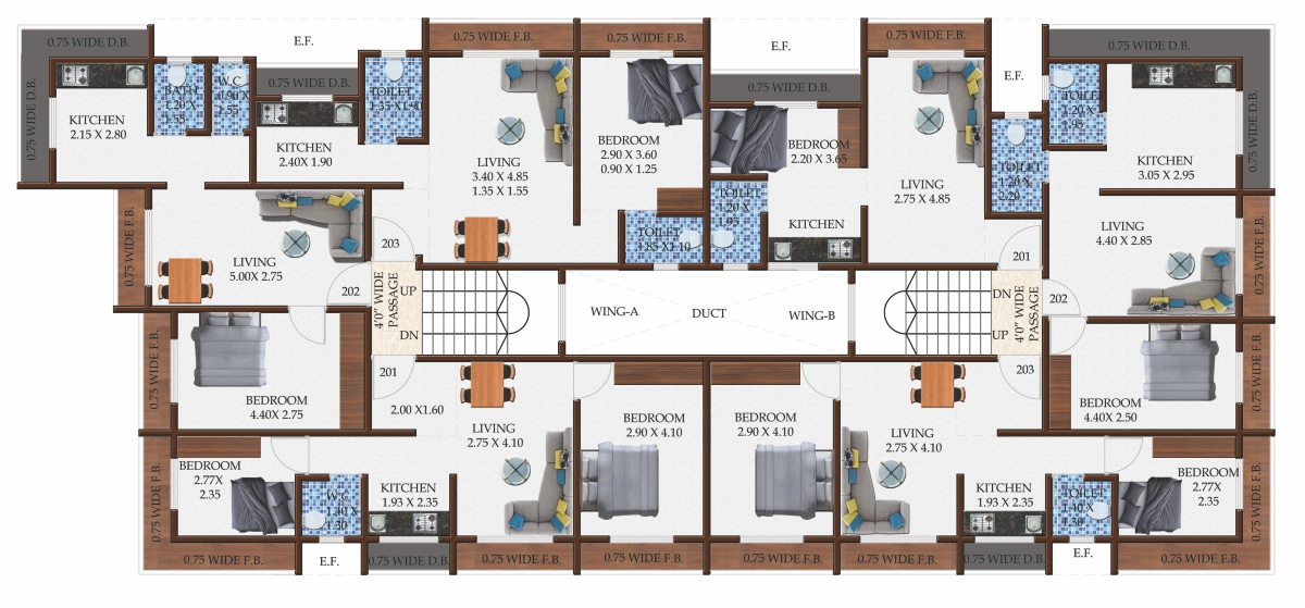 Gokul Pride Floor Plan - Palghar, India